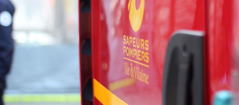 Illustration d'un camion des pompiers d'Ille-et-Vilaine, ici à Rennes.