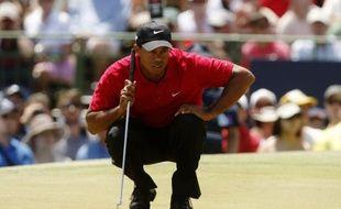 Le golfeur américain Tiger Woods lors des Masters d'Australie, le 15 novembre 2009.