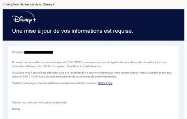 Disney +: des hackers tentent de dérober les coordonnées bancaires des abonnés
