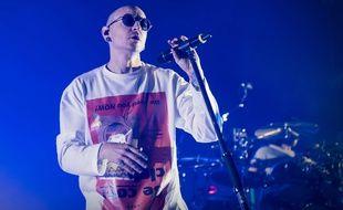 Le chanteur de Linkin Park, Chester Bennington, ici lors d'un concert, le 4 juillet 2017 à Londres, est décédé le 20 juillet.