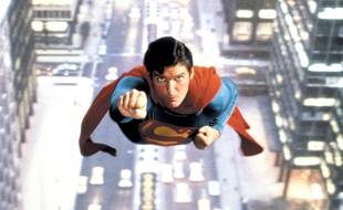 L'acteur Christopher Reeve dans le film «Superman»