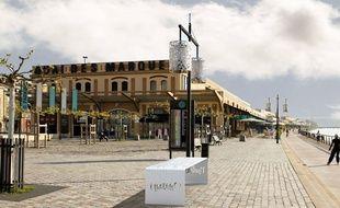 Un banc Naelou créé par l'artiste toulousain Kamel Secraoui.