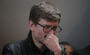 Luz lors d'une conférence de presse de «Charlie Hebdo» le 15 janvier 2015.