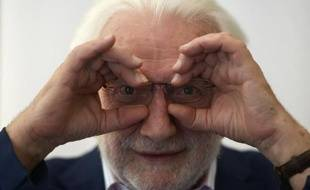 Portrait du photographe français Lucien Clergue, pris le 20 juin 2013, à Madrid
