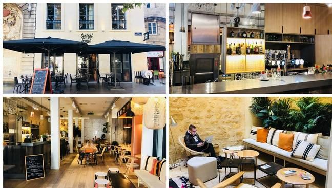 Le restaurant-bar situé au rez-de-chaussée du Central Hostel est ouvert à tous.