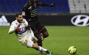Nabil Fekir et l'OL ont parfois été maudits contre Rennes, ce dimanche.