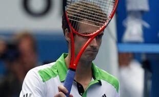 Le Britannique Andy Murray, lors de sa victoire à Melbourne contre Alexander Dolgopolov, le 25 janvier 2011.