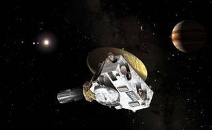Vue d'artiste de la sonde New Horizons, en route vers Pluton.
