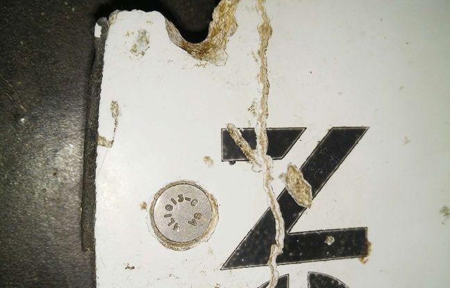Un débris retrouvé par le touriste américain Blaine Gibson sur une plage du Mozambique en février 2016.