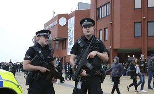 Des policiers à Glasgow (Ecosse), le 16 septembre 2017.