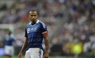 L'attaquant de l'équipe de France Thierry Henry, lors du match France - Roumanie du 5 septembre 2009 au Stade de France.