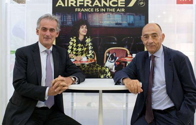 Le 20 septembre 2016, Frédéric Gagey pose avec Jean-Marc Janaillac, le boss d'Air France-KLM, qui le remplacera un peu plus d'un mois plus tard au poste de président d'Air France.