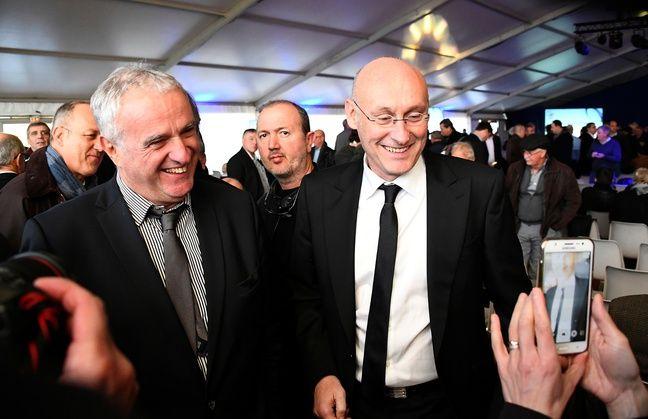Alain Doucet et Bernard Laporte, le 3 décembre 2016 à Marcoussis.