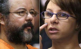 Le «tortionnaire de Cleveland», Ariel Castro, et une de ses victimes, Michelle Knight, le 1er août 2013, au tribunal.