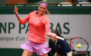 Petra Kvitova à Roland-Garros en 2015