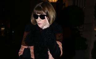Anna Wintour, le 27 février 2018 à Paris pendant la Fashion Week.