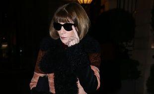 Anna Wintour, le 27 février 2018 à Paris pendant la Fashion Week.