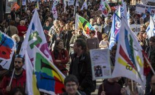 Une manifestation d'enseignants dans les rues de Toulouse. 12 novembre 2018. Crédit:FRED SCHEIBER/SIPA.