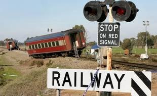 Un train déraille en Australie (image d'illustration).