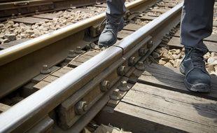 Des voies de chemin de fer (Illustration). // Photo : V. Wartner / 20 Minutes