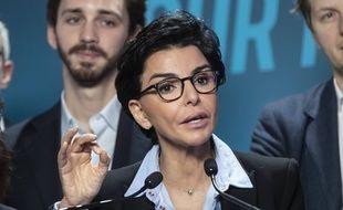 Rachida Dati, la candidate LR, à la mairie de Paris.
