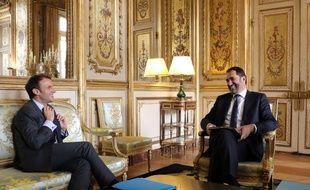 Christophe Castaner avec Emmanuel Macron à l'Elysée, le 20 novembre 2017.