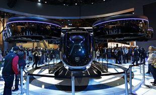 Le taxi volant « Bell Nexus », a été dévoilé lors du CES 2019 à Las Vegas.