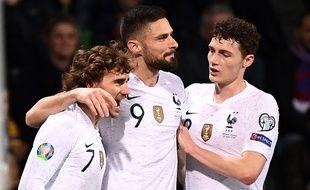 Antoine Griezmann et Olivier Giroud ont marqué face à la Macédoine, vendredi 22 mars.