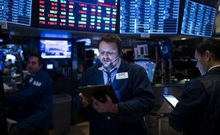 Image d'illustration de traders à New York.