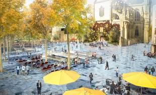 L'avenir de la place Sainte-Anne imaginé par l'agence Ilex et validé par le conseil municipal.