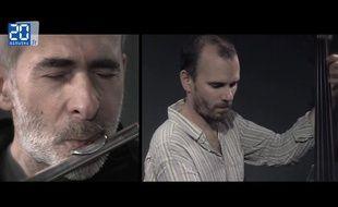 Lionel Belmondo et sylvain Romano dans le studio de 20 Minutes