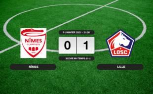 Nîmes - LOSC: Le LOSC vainqueur de Nîmes 1 à 0 au stade des Costières