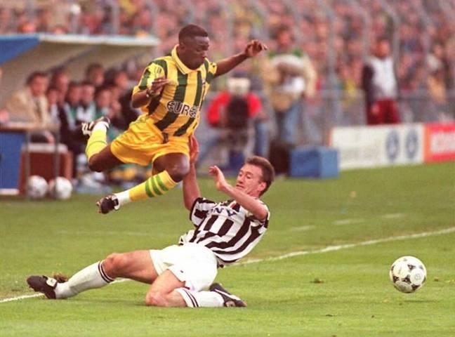 Nantes-Juventus en 1996, à la Beaujoire ou Makélélé face à Deschamps.