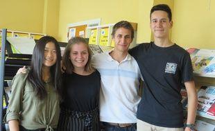 Valentine, Charlotte, Maxime et Nicolas ont remporté le 15 mai, le concours Sciences Factor en réalisant une turbine qui produit de l'électricité à partir de l'eau des gouttières.
