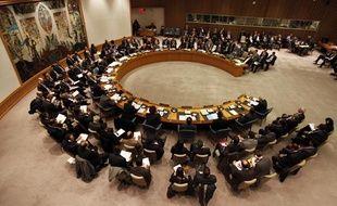 Le Conseil de sécurité des Nations Unies, le 31 janvier 2012, à New York.