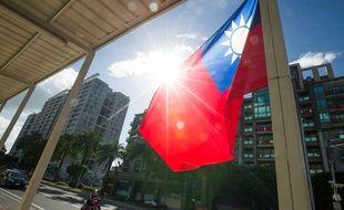 Le drapeau taiwanais. (image d'illustration)