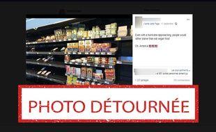 Cette photo d'un rayon d'un supermarché américain a été prise il y a un an.