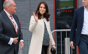 Kate Middleton, enceinte de son troisième enfant, le 22 mars 2018.