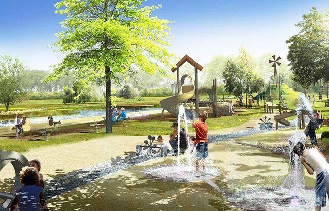 Les jeux pour enfants prévus au parc Bruyère.