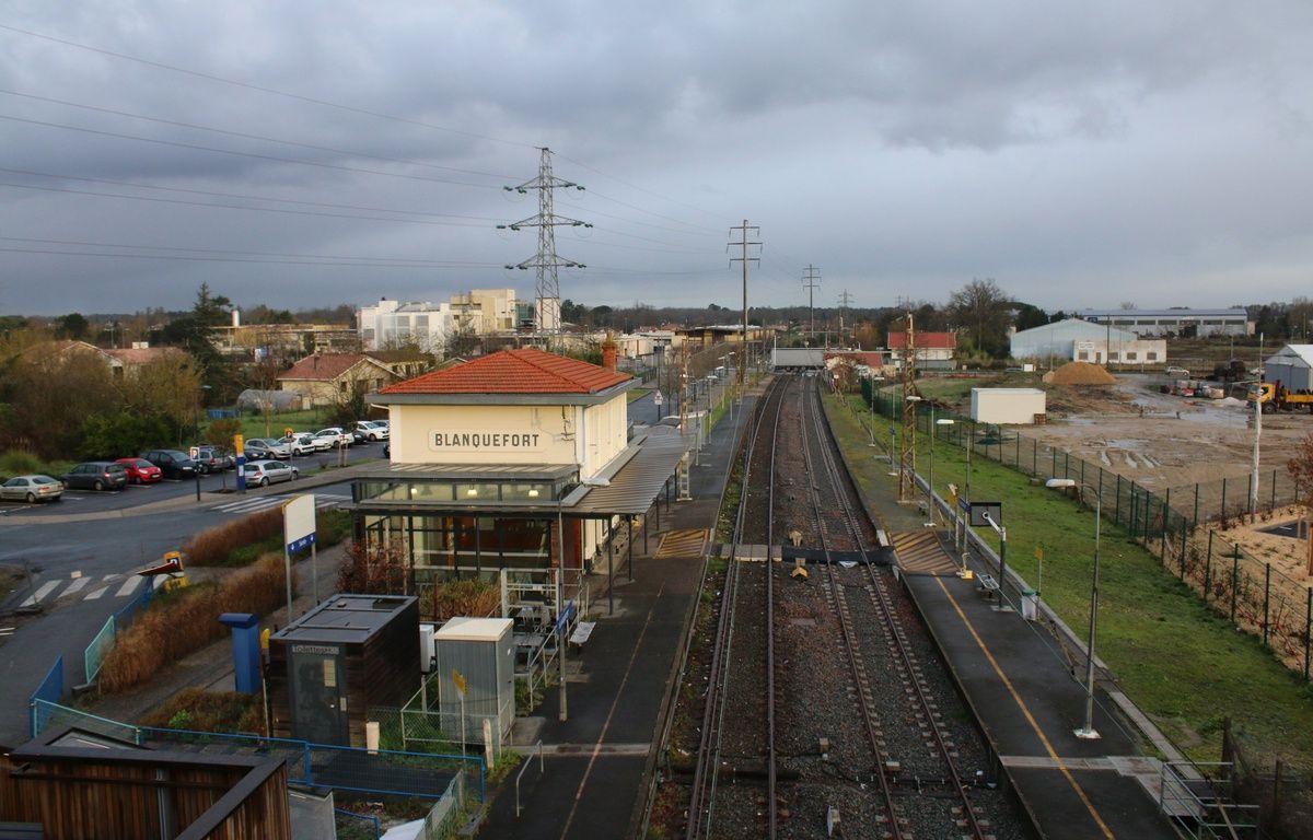 Le 10 fevrier 2016, la gare SNCF de Blanquefort (Gironde) –