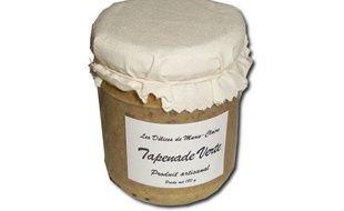 Un pot de tapenade verte de la marque «Les délices de Marie-Claire».