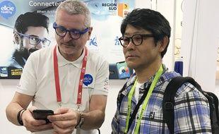Philippe Peyrard au CES 2019 avec un potentiel partenaire japonais