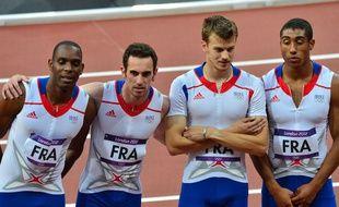 Le relais 4x100 m français des JO de Londres.