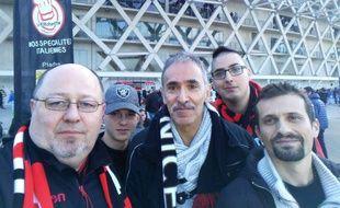 En Belgique ou à Nice, Luc (à gauche)soutient le Gym avec ferveur depuis deux ans.