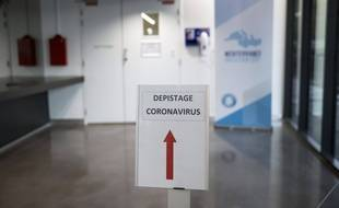 Dépistage du coronavirus dans un hôpital (illustration)
