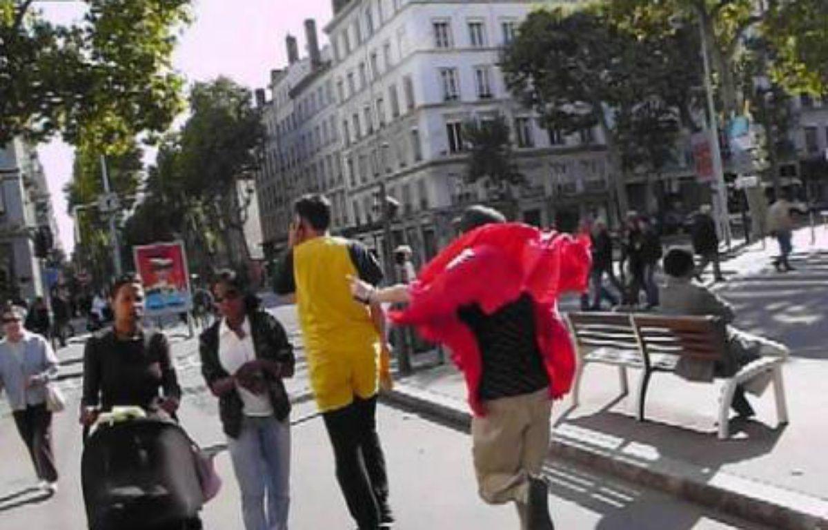Pac Man et ses fantômes ont la ville pour terrain de jeu. – DR