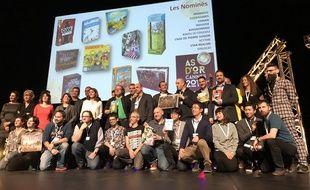 L'ensemble des nominés ce jeudi soir au Palais des festivals de Cannes.