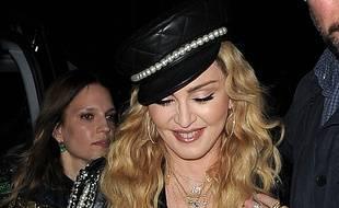 La chanteuse Madonna à Londres