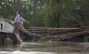 Des inondations ont touché le Pakistan, et notamment la province de Khyber-Pakhtunkhwa, le 31, 2010.