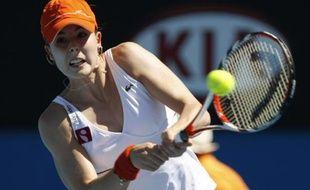 La Française Alizé Cornet, lors de son premier tour à l'Open d'Australie, le 19 janvier 2008.